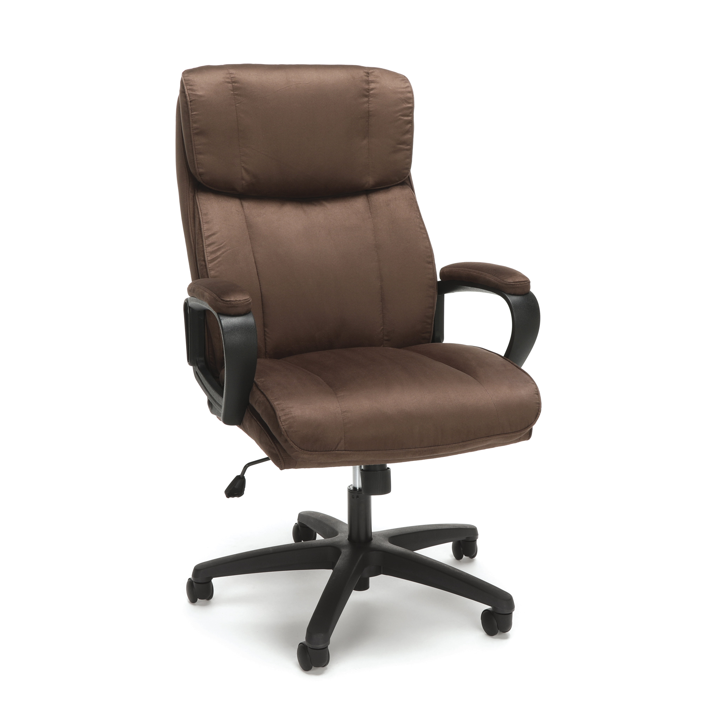 Essentials by OFM ESS-3081 Plush High-Back Microfiber Office Chair, Brown