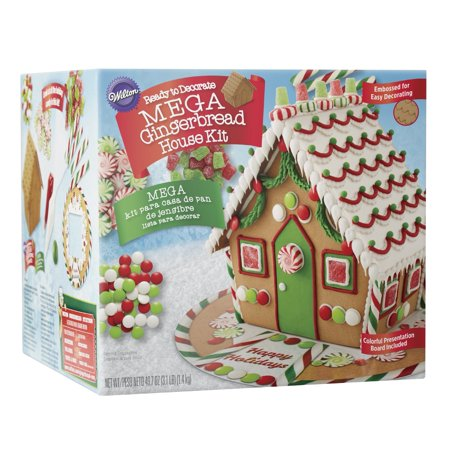 Wilton Ready-to-Decorate Mega Gingerbread House Decorating Kit, Pre ...