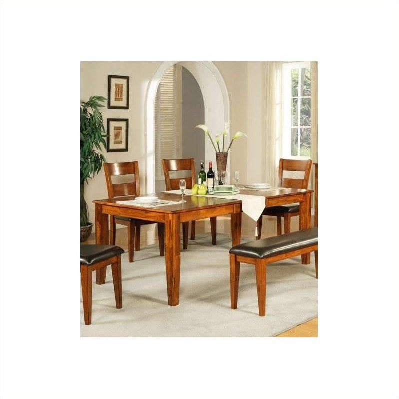 Lovely Steve Silver Company Mango Dining Table With 18 Inch Butterfly Leaf In Light  Oak