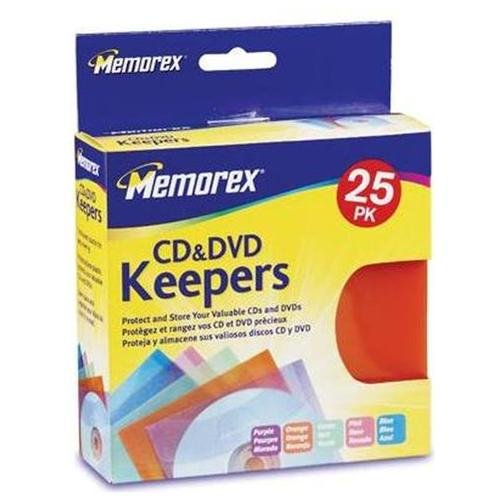 Memorex 32021970 Cd & Dvd Keepers 25-pk (memorex 32021970)