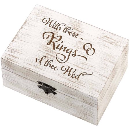 Lillian Rose Rustic Wedding Ring and Vow Box, I Thee -