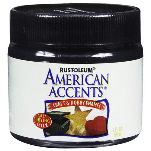 Rustoleum American Accents Canyon Black Stain Craft & Hobby Brush Enamal Paint - Pack of 6