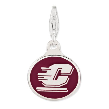 Michigan Outdoor Pendant - 925 Sterling Silver Enamel Central Michigan Univ. Lobster Clap Pendant Charm Necklace Collegiate Gifts For Women For Her