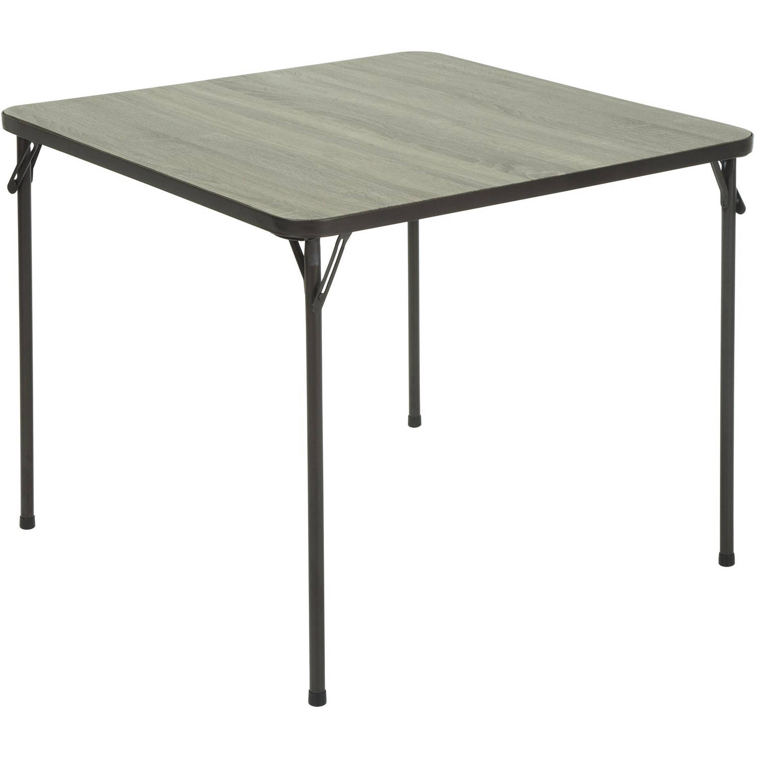 "Cosco 34"" Square Textured Wood Grain Resin Top Folding Table, Spring Oak by Cosco"