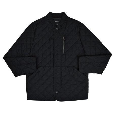 New  Banana Republic Mens Black Diamond Quilted Field Jacket Coat Sz M Medium 7259-1