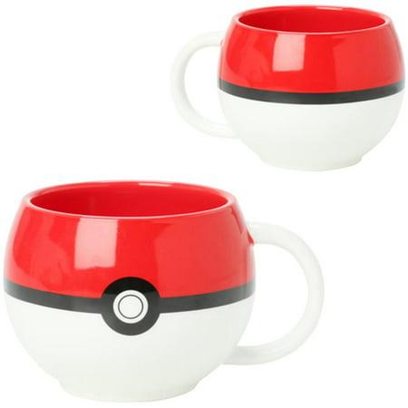 Pokemon Pokeball Molded Coffee Mug