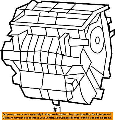 Jeep Chrysler Oem 12 16 Wrangler Evaporator Heater Distribution Box