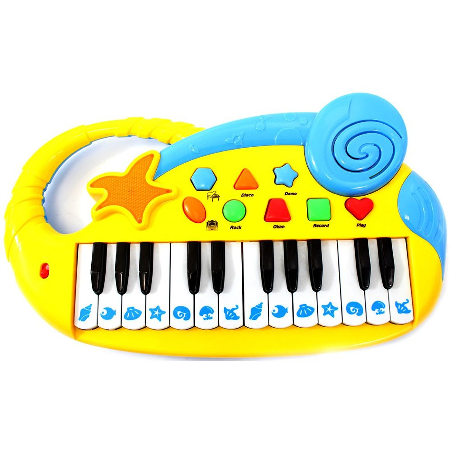 Musical Fun Electronic Piano Keyboard for Kids with Record and Playback Yellow by