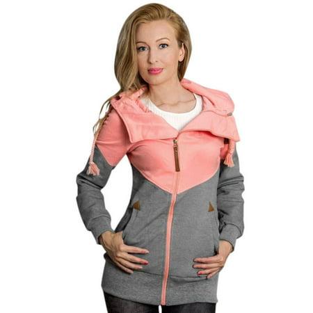 - Womens Long Sleeve Hoodies Plus Size Sweatshirt Pullover Ladies Hooded Tops