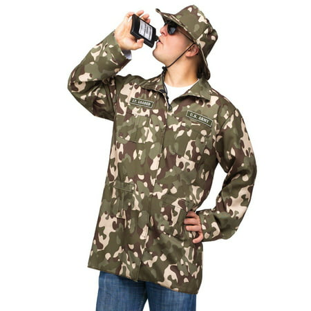 Fun World Funny Mens Military Army Soldier Flask Halloween Costume (Funny Costumes Men)