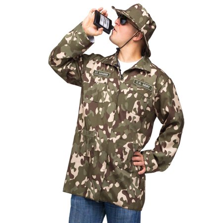 Fun World Funny Mens Military Army Soldier Flask Halloween Costume](Funny Halloween Costume Ideas 2017)