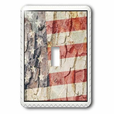 3dRose American Flag Postage Stamp 2 Plug Outlet Cover