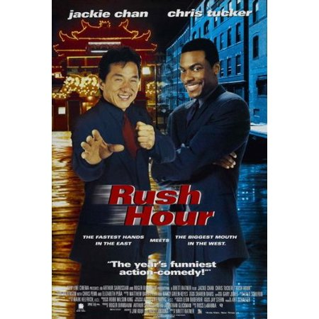 Rush Hour - 1998 - 27 x 40 Movie Poster - Style B, Rush Hour movie posters are rolled in newsprint to protect edges and ship in a sturdy triangular - Tube Adult Movies