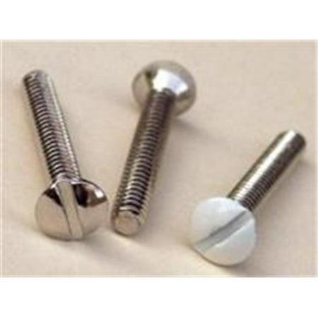 Morris Products 30750 6-32 Painted Plate Screws 1 In. Nickel, Pack Of 100 - image 1 of 1