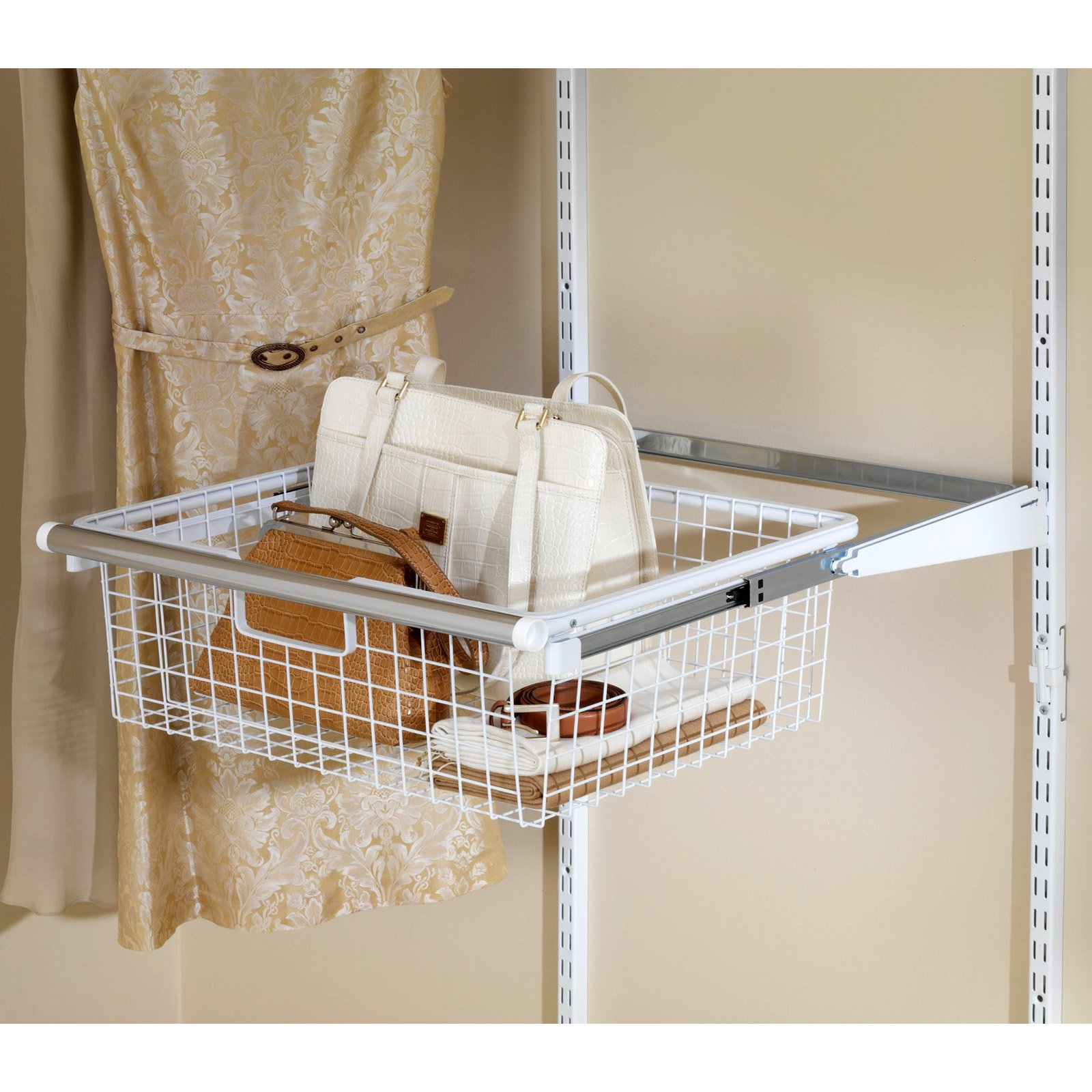 Rubbermaid Home Prod Dorfile FG3J0503WHT Configurations Sliding Basket, White
