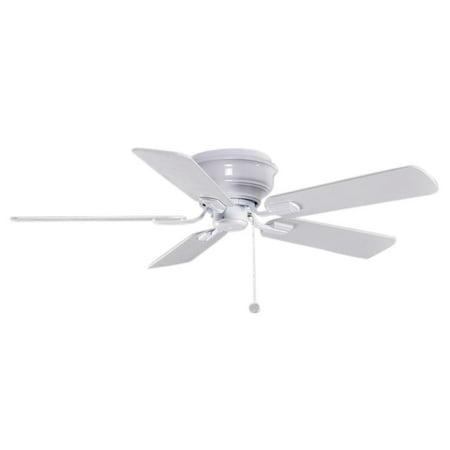 Hampton Bay Hawkins 44 In. White Ceiling Fan