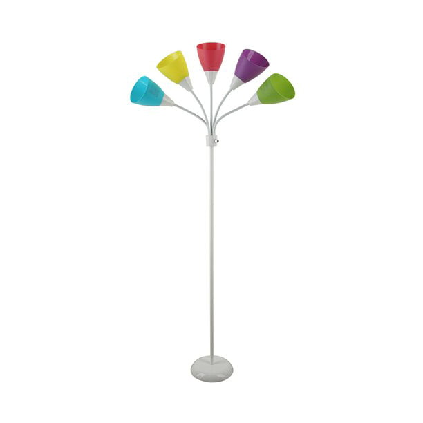 Mainstays White 5 Light Floor Lamp With