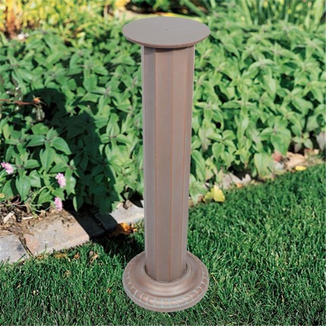 Aluminum Roman Sundial Pedestal - Copper Verdi