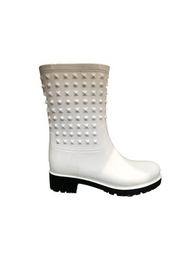 308c509bb8a Product Image OwnShoe Womens Wellies Rubber Waterproof Snow Rain Boot  Studded Midcalf Flat Rainboots