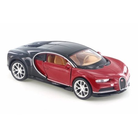 Bugatti Chiron  Red W  Black   Welly 43738D   4 5  Diecast Model Toy Car  Brand New But No Box