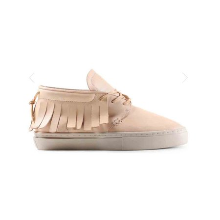 101 Leather - Clear Weather One-O-One Midtop Sneaker Raw Undyed Leather CRW-101-RAW