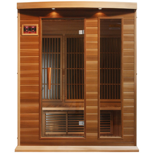 Dynamic Infrared 3 Person Carbon FAR Infrared Sauna by Golden Designs