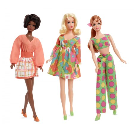 Barbie Mod Friends Gift Set with 3 Dolls in Retro Looks (Barbie Fabric)
