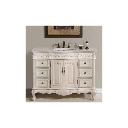 "Silkroad Exclusive Ella 48"" Single Bathroom Vanity Set"