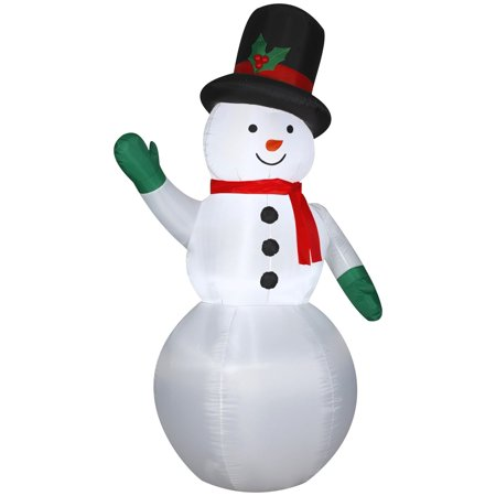 Gemmy Airblown Snowman with Holiday Top Hat](Pimp Snowman)