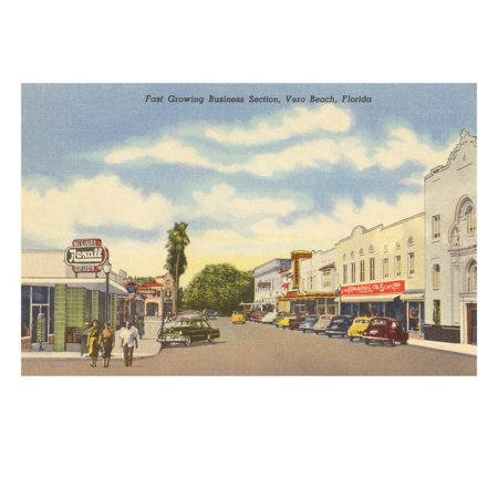 Business District, Vero Beach, Florida Print Wall Art ()