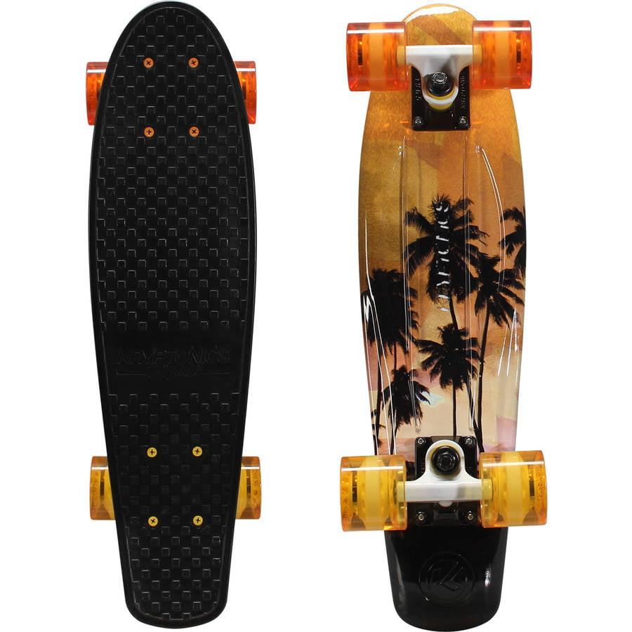 "Kryptonics Original Torpedo Complete Skateboard (22.5"" x 6"") Golden-Sunset by Bravo Sports"