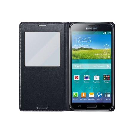 huge discount 1a882 b6a86 Samsung Galaxy S5 Case S View Flip Cover Folio, Black