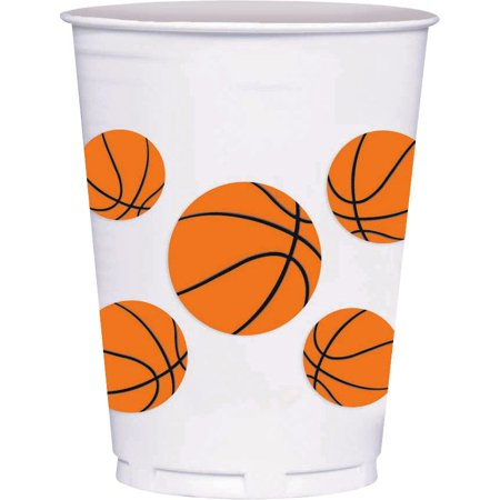 Basketball 14Oz Cups (8 Count) - Party Supplies