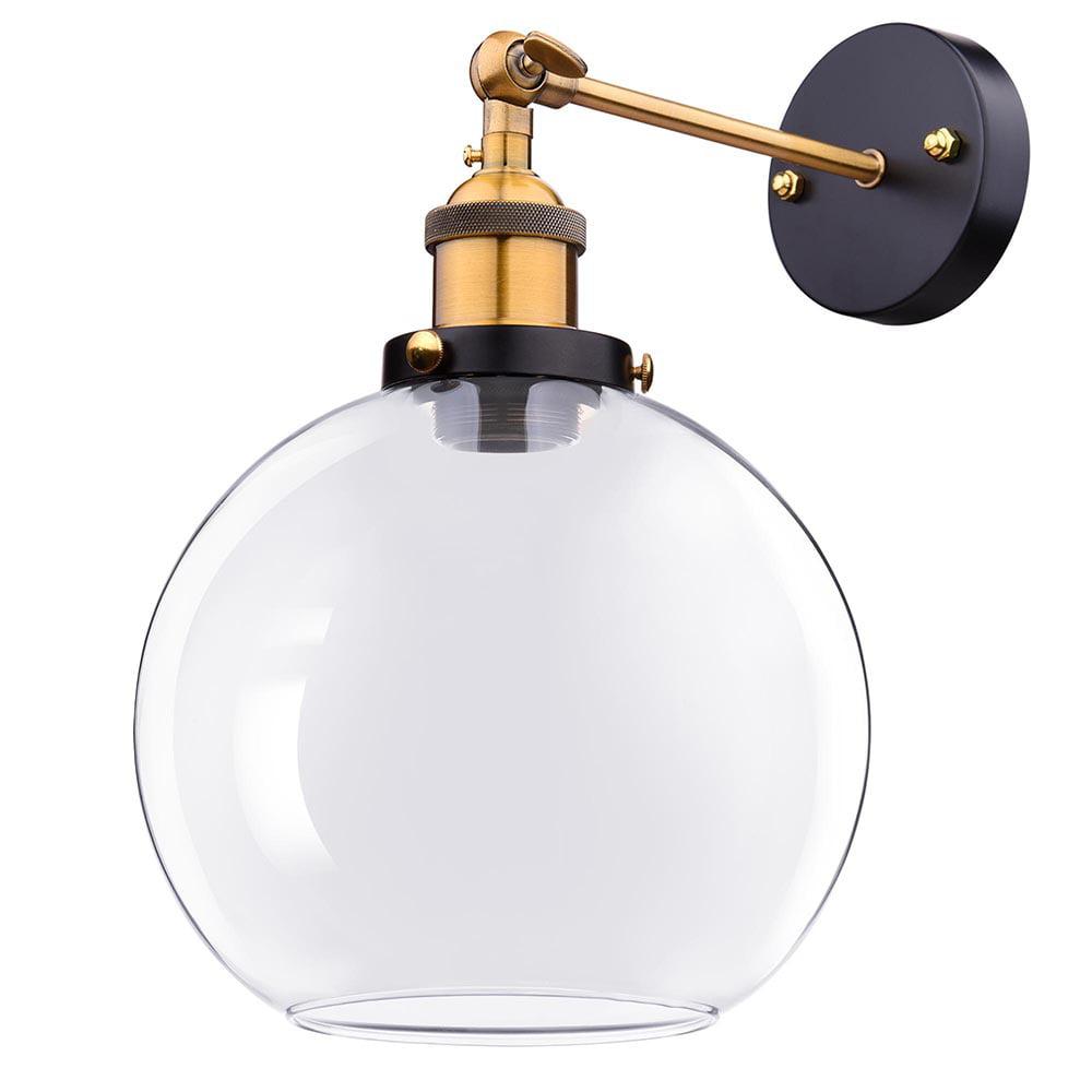 "Ceiling- or Wall Lights chrome 1 of 5 7.9/"" white glass globe Pretty vtg"