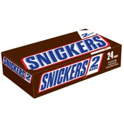 Snickers Chocolate Candy Bars, 3.29 Oz., 24 Count