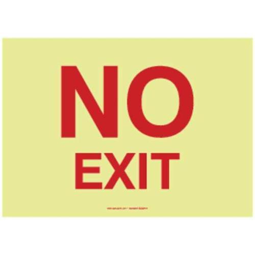 ACCUFORM MLAD517GP Safety Sign,10in.Hx14in.W,Lumi Glw Plast G1835121