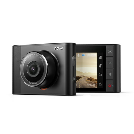 Roav By Anker, DashCam A1, Dash Cam, Dashboard Camera Recorder with Sony Exmor 323 Sensor, 1080P FHD, NightHawk Vision, Wide-Angle View, WiFi, G-Sensor, WDR, Loop Recording, and Night Mode (By Dash)