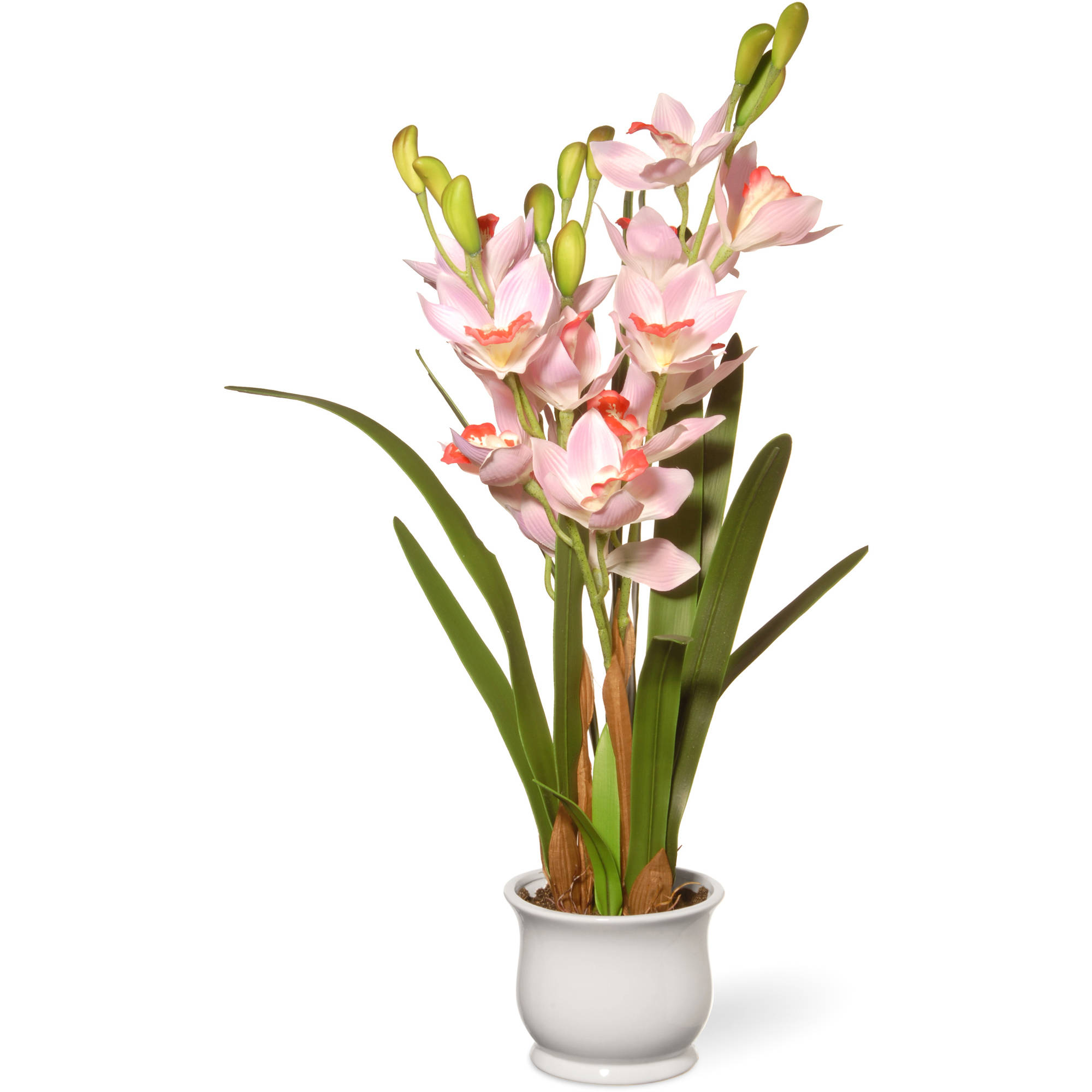 """National Tree Artificial 28"""" Light Pink Orchid Flowers"""