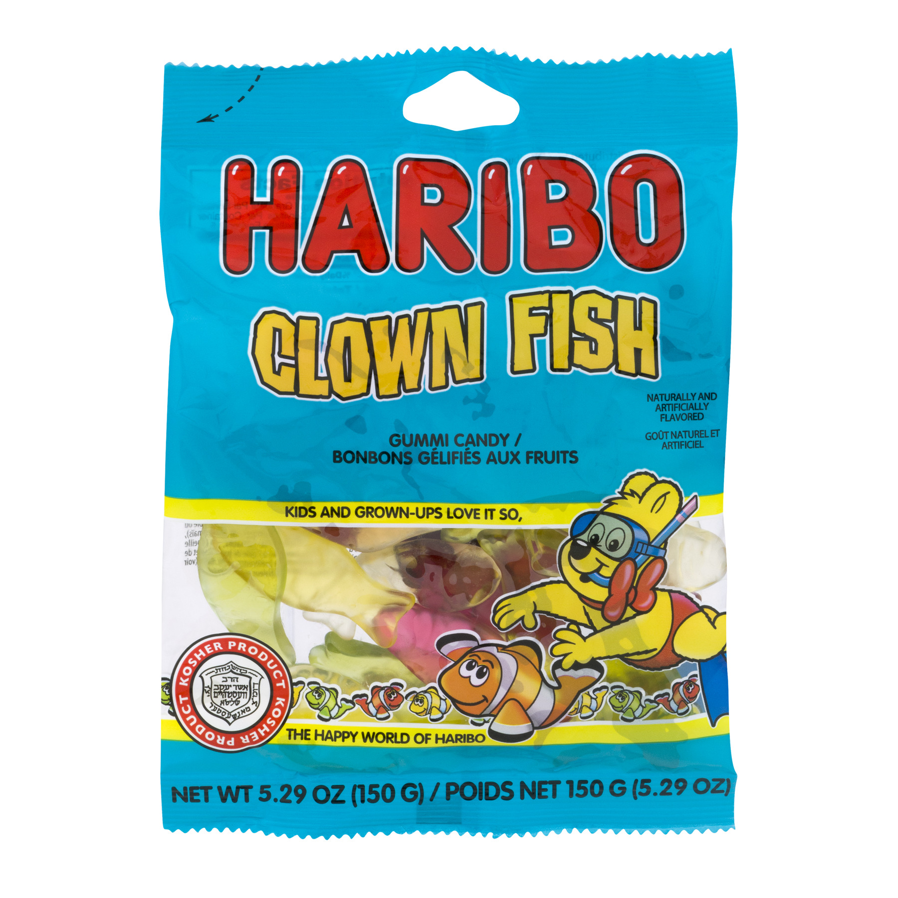 Haribo, Gummi Candy Clown Fish, 5.29 Oz