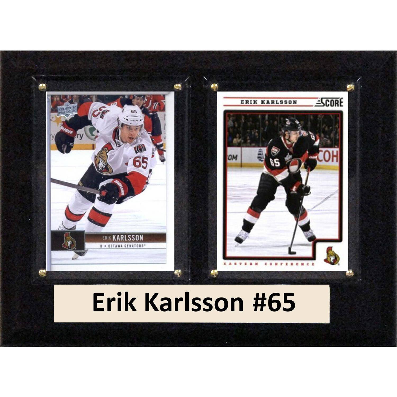 "C & I Collectables NHL 6"" x 8"" Erik Karlsson Owatto Senators Two-Card Plaque"