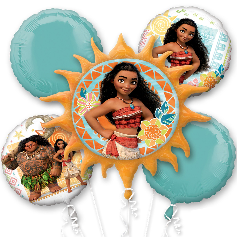 Moana Foil Balloon Bouquet