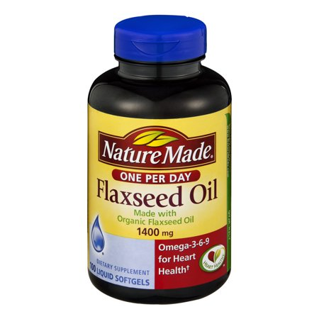 031604028251 upc nature made flaxseed oil 1400 mg 100 for Liquid fish oil walmart