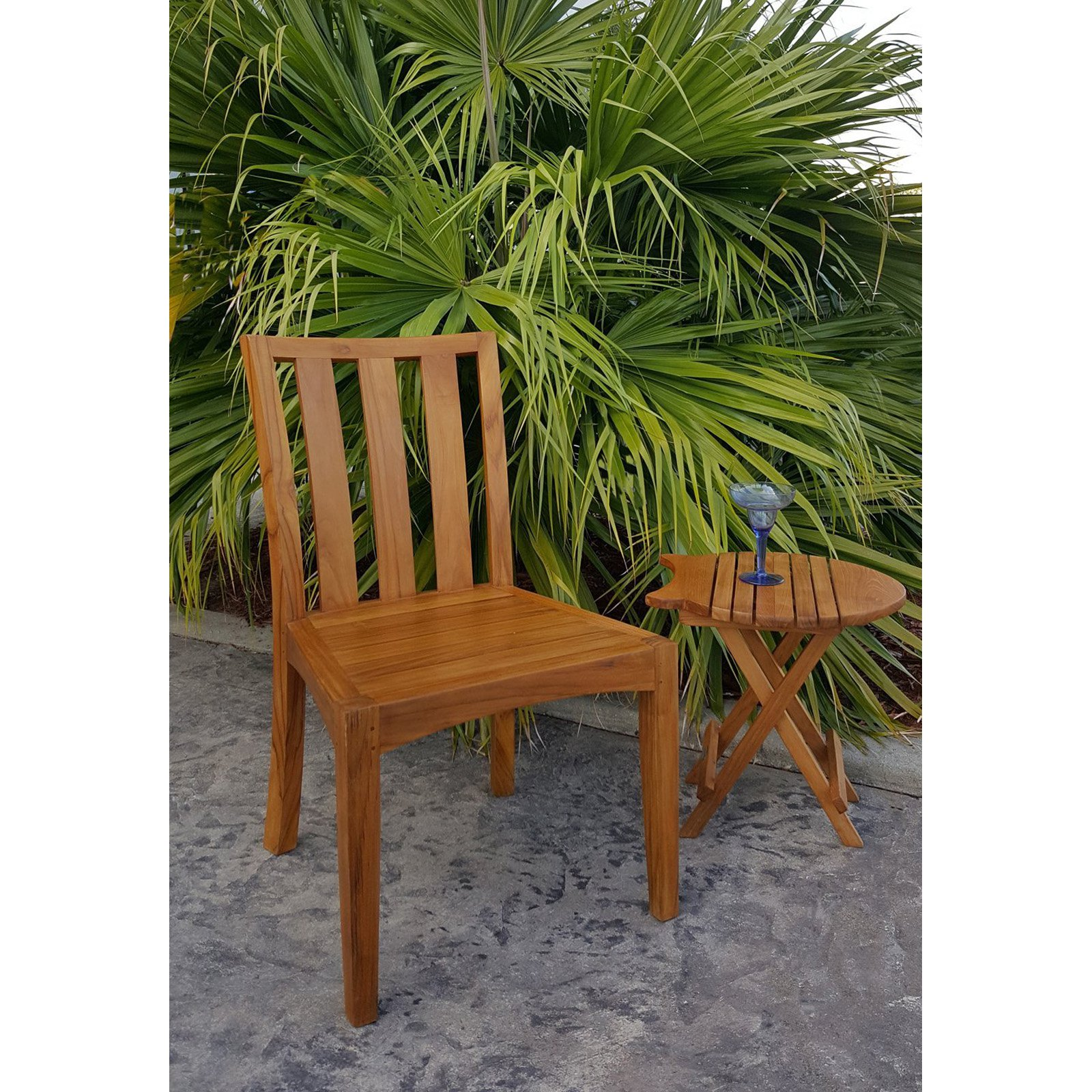 Chic Teak Boston Teak Patio Dining Side Chair by