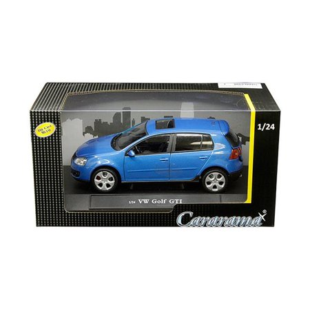 Gti Cat - Volkswagen Golf GTI with Sunroof Metallic Blue 1/24 Diecast Model Car by Cararama