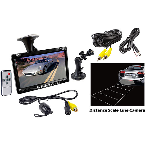 "Pyle Audio 7"" Window Suction Mount TFT/LCD Video Monitor with Universal Mount Rearview Backup Color Camera"