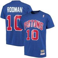 Dennis Rodman Detroit Pistons Mitchell & Ness Hardwood Classics Retro Name & Number T-Shirt - Royal