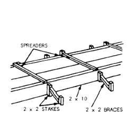 Framed Art For Your Wall Diagram showing a typical footing