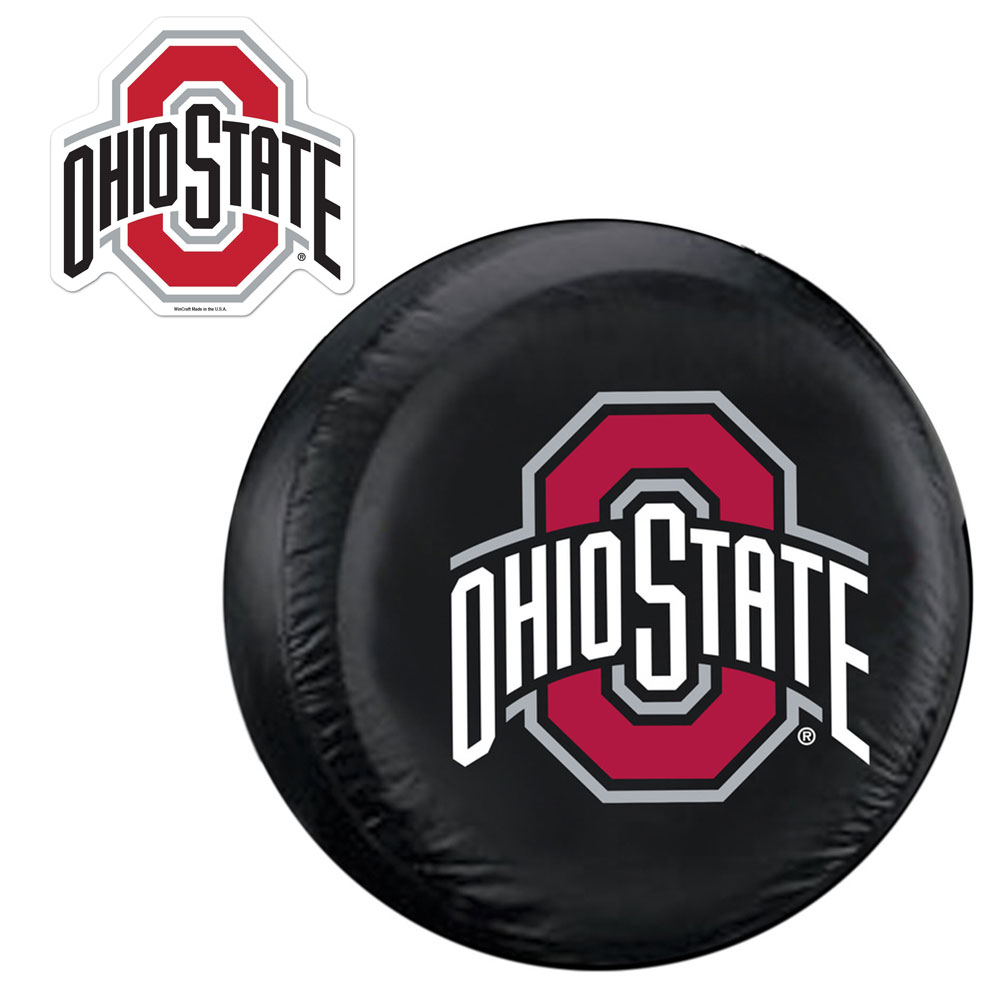 Internet Fulfillment Services IFS-COL-OHS-TCGOGO-S Ohio State Buckeyes Ncaa Spare Tire Cover And Grille Logo Set [regular]