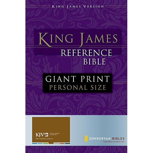 Holy Bible: King James Version Reference Giant Print Black Leather-look