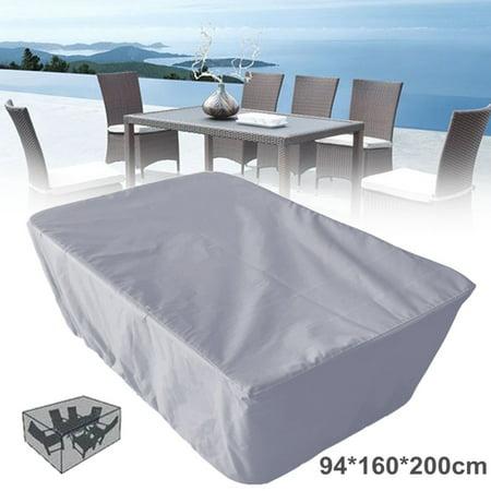 Gray Garden Patio Table Chair Set Cover